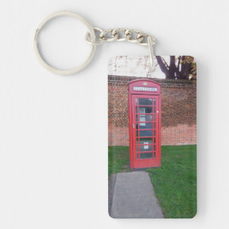 Red Telephone Box in London Key Ring