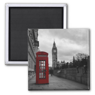 Red telephone box in London magnet