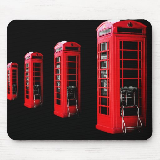 Red Telephone Box Mousepads