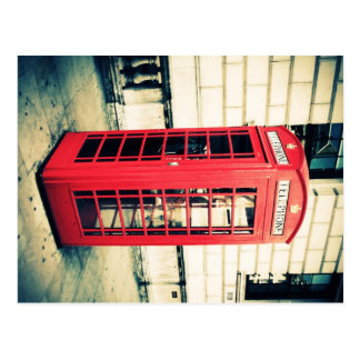 red telephone box post card