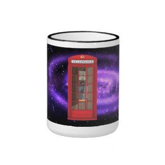 Red Telephone Box Ringer Mug
