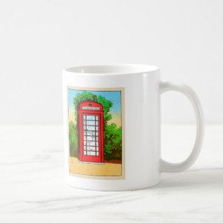Red Telephone Box UK Vintage Kitsch Coffee Mug
