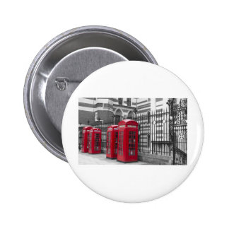 Red Telephone boxes Pinback Button