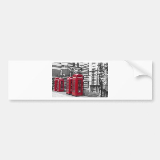Red Telephone boxes Bumper Sticker