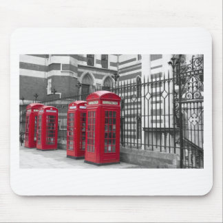 Red Telephone boxes Mouse Pad