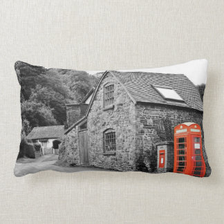 Red Telephones Box Lumbar Cushion