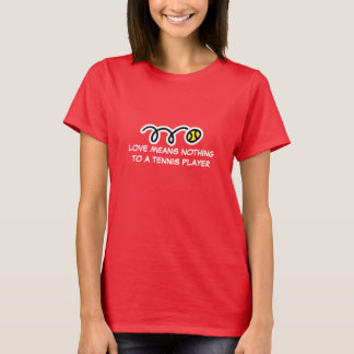 Red tennis t shirt for women with cute saying