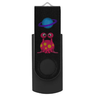 Red Tentacle Alien USB Flash Drive