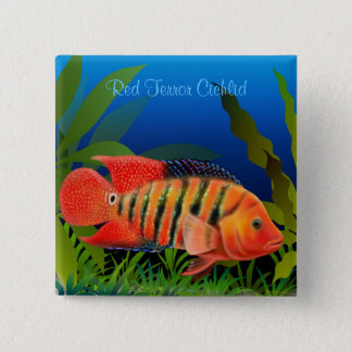 Red Terror Festae Cichlid Pin