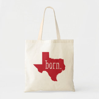 Red Texas State Born Tote Bag