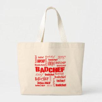 Red Text Badchef Jumbo Tote Bag