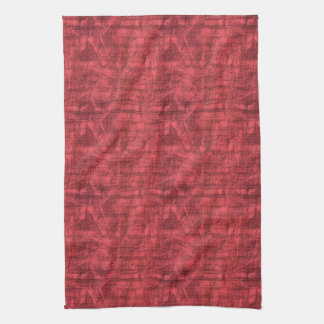 Red Textured Tea Towel