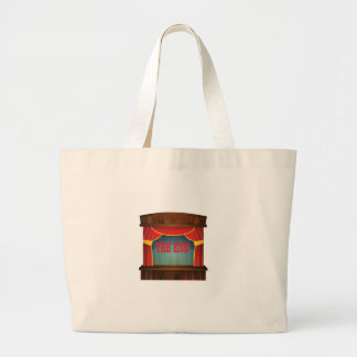 red the end curtain large tote bag