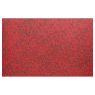 Red Thin Faux Lace Effect Design Fabric