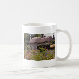 Red Thomas Hardy's cottage, Dorset, England flower Coffee Mug