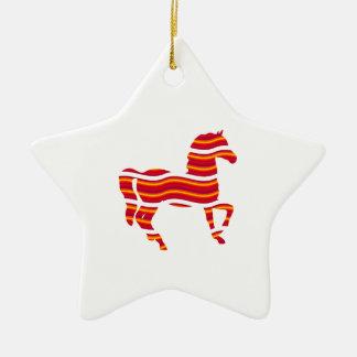 Red Thoroughbred Ceramic Ornament