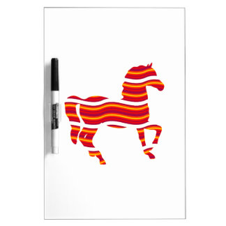 Red Thoroughbred Dry Erase Board