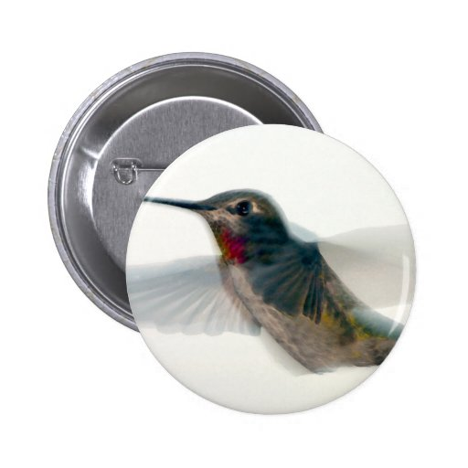 Red-Throated Hummingbird Buttons