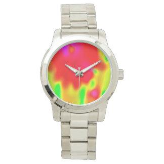 Red Tie Dye Designer's watch