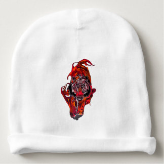 Red Tiger Baby Beanie
