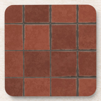 Red Tile Coasters