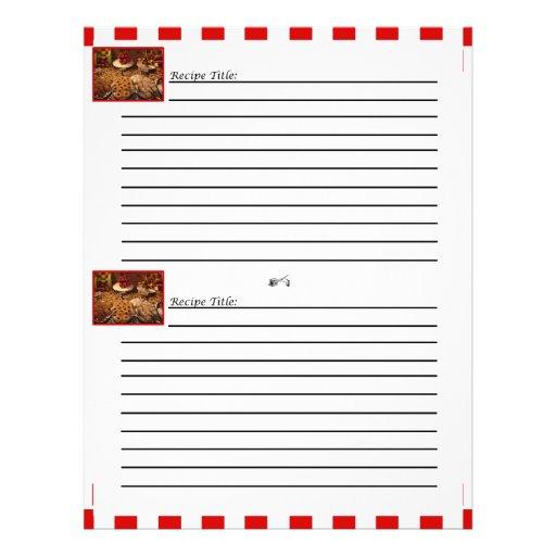 Red Tile Dessert Recipe Cards Custom Flyer