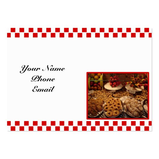 Red Tile Desserts Business Card Templates
