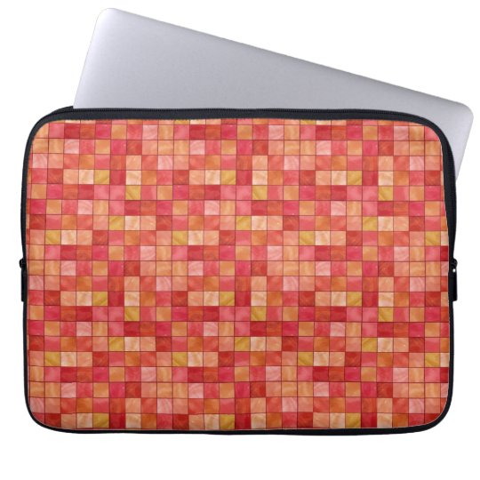 "Red Tile pattern 13"" Laptop Sleeve"