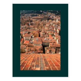 Red Tile Rooftops Postcard