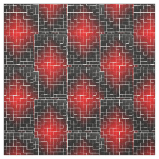 red tiles fabric