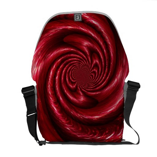 Red Tinsel Swirl Design Courier Bag