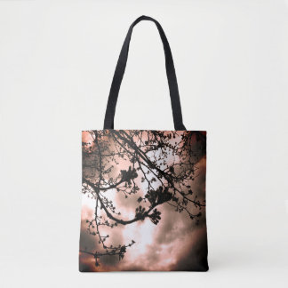 red tint branches tote