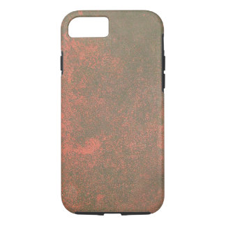 Red Tinted Rust Texture Background iPhone 7 Case