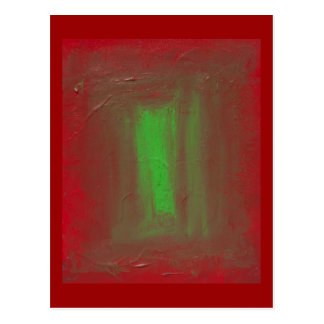 Red to Green Josef Albers Homage Postcard
