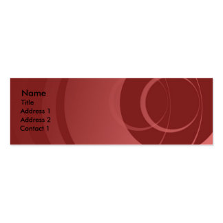 Red to Pink, Circles Business Cards