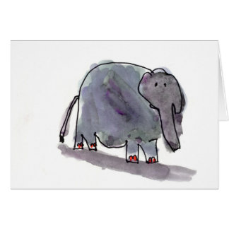 Red Toed Elephant • Conrad Mazur, Age 6 Card