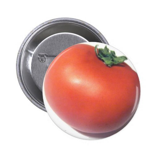 Red Tomato Pinback Buttons