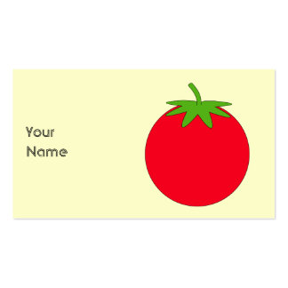 Red Tomato. Double-Sided Standard Business Cards (Pack Of 100)