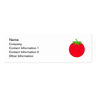 Red Tomato. Pack Of Skinny Business Cards