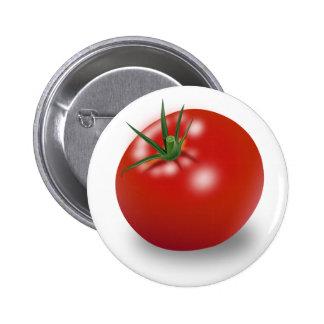 Red Tomato Design 6 Cm Round Badge