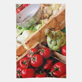 Red Tomato French Market Kitchen Towel