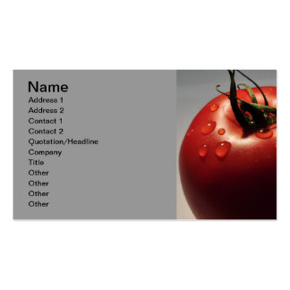 RED TOMATO FRESH FRUITS VEGETABLES HEALTHY YUMMY BUSINESS CARDS