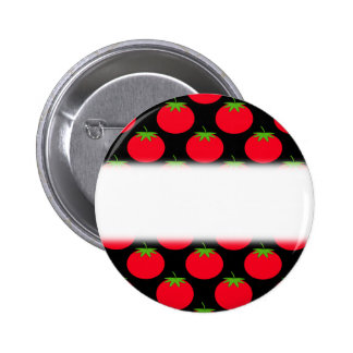 Red Tomato Pattern. 6 Cm Round Badge