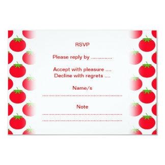 Red Tomato Pattern. 9 Cm X 13 Cm Invitation Card