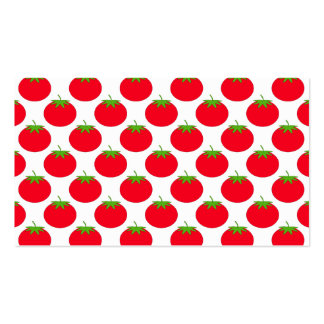 Red Tomato Pattern. Business Cards
