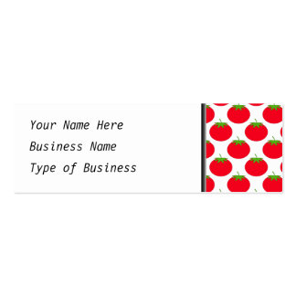 Red Tomato Pattern. Business Card Templates