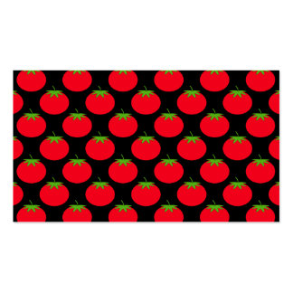 Red Tomato Pattern. Double-Sided Standard Business Cards (Pack Of 100)