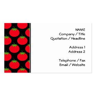 Red Tomato Pattern. Pack Of Standard Business Cards