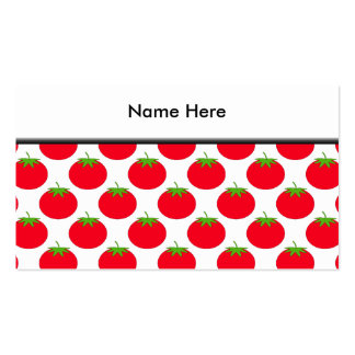 Red Tomato Pattern. Business Card