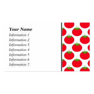 Red Tomato Pattern. Business Card Template